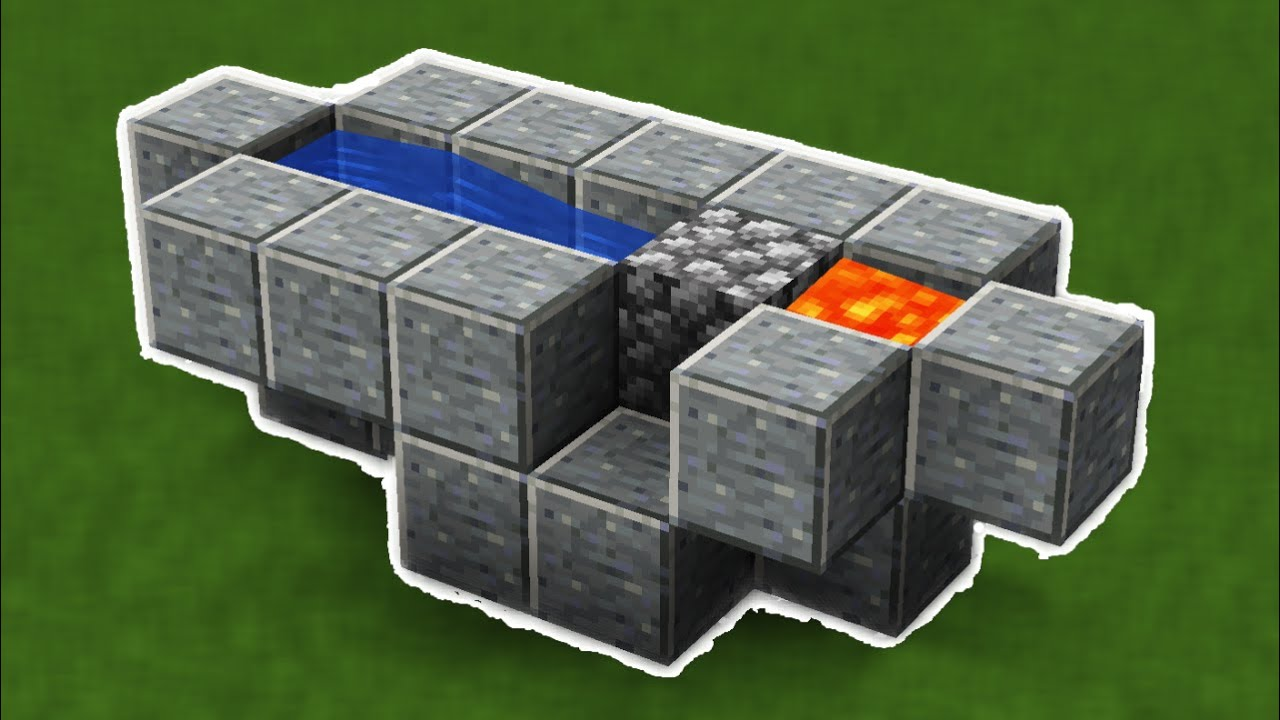 how to make a very efficient cobblestone generator