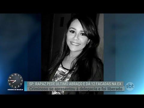 Jovem é esfaqueada 12 vezes pelo ex-namorado no interior de SP | Primeiro Impacto (08/08/18)