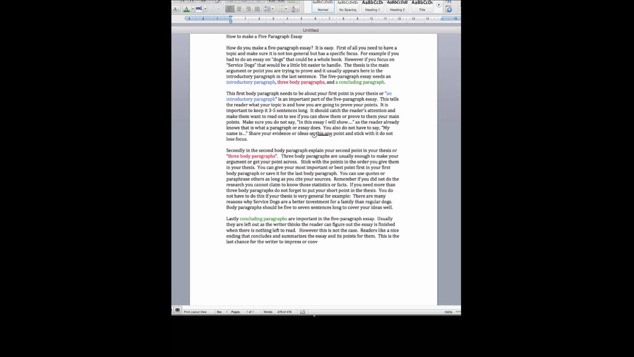 how do you write a 5 paragraph essay Learning how to write a five-paragraph essay follows a very strict yet simple format the first paragraph is the introductory paragraph, the next three.