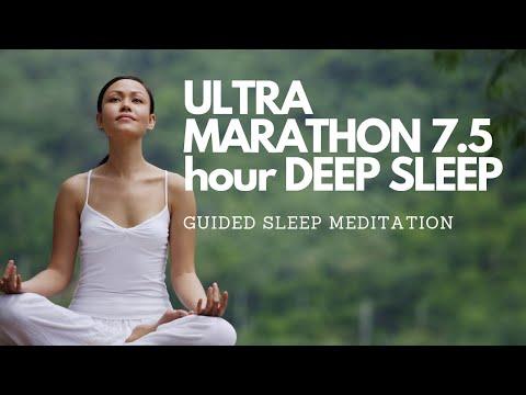 ULTRA MARATHON 7.5 Hour DEEP SLEEP GUIDED MEDITATION (Voice/ Music) FALL ASLEEP FAST