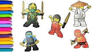 Lego superhero Ninjajo coloring pages 3.0 Your favourite heroes JAY, ZANE, NYA, kai, MASTER WOO