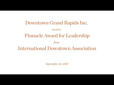 Downtown Grand Rapids Inc. receives Pinnacle Award for Equity Leadership