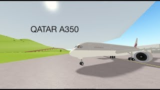 QATAR A350! NEW PTFS UPDATE! (Roblox pilot training flight simulator)