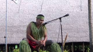 Funny man at  Polynesia cultural center; tour in Honolulu, Hawaii-US (Good show)