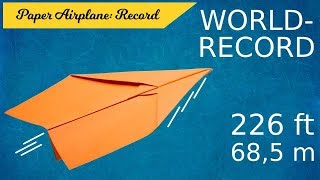 How to fold tнe World Record Paper Airplane | Official World Record