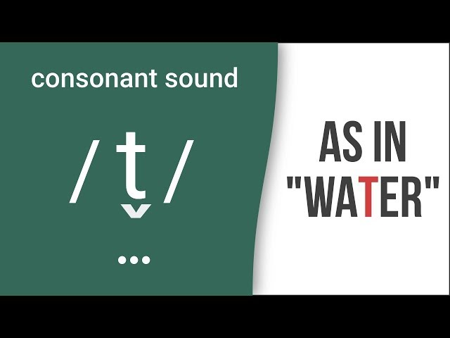 "Consonant Sound Flap T /t/ as in ""water""  American English Pronunciation"