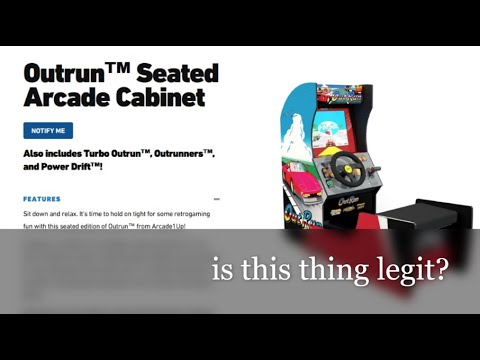 Is this legit? Outrun seated arcade1Up cabinet hits retail. from Canadian Gamer