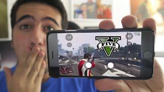 JUGANDO A GTA V EN MI MOVIL !! WTF - ElChurches