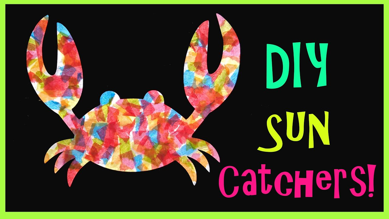 Papercraft Kid's Craft // Sea Creature Sun Catchers!