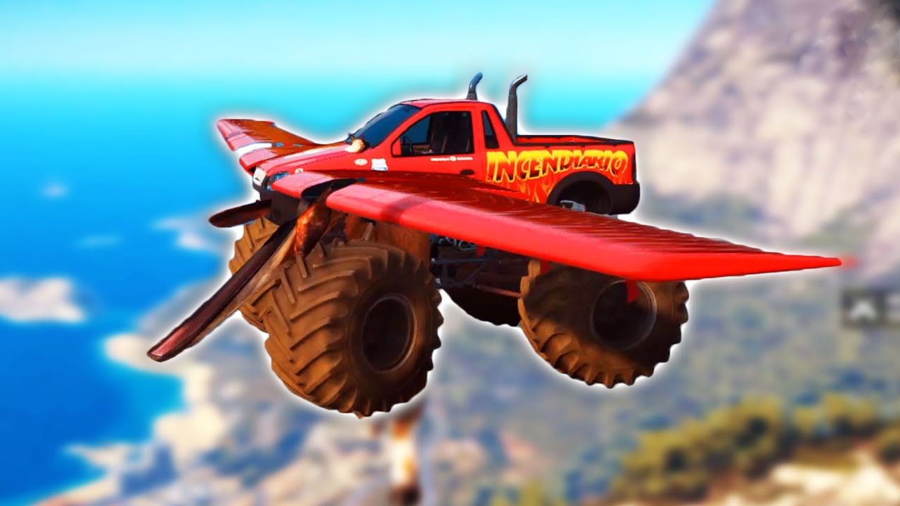 flying monster truck just cause 3 mods youtube. Black Bedroom Furniture Sets. Home Design Ideas