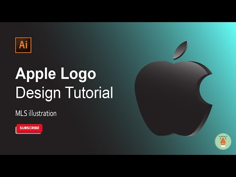 How to Draw the Apple Logo | Adobe Illustrator Tutorial | MLS Illustration | 2021