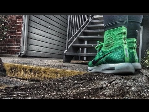 more photos cd3dc 9457b Nike LunarEpic Flyknit Unboxing + On Feet Footage - YouTube