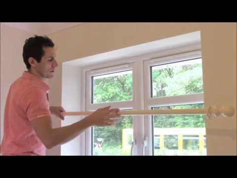 HOW TO FIT A  WOODEN CURTAIN POLE - YouTube