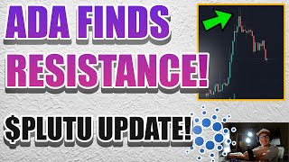 ADA PRIICE HITS RESISTANCE! NEW PROJECTS BEING BUILT ON THE CARDANO BLOCKCHAIN!