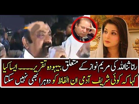 Speech of Rana Sanaullah against Maryam Safdar & Sharif Family   On Tv