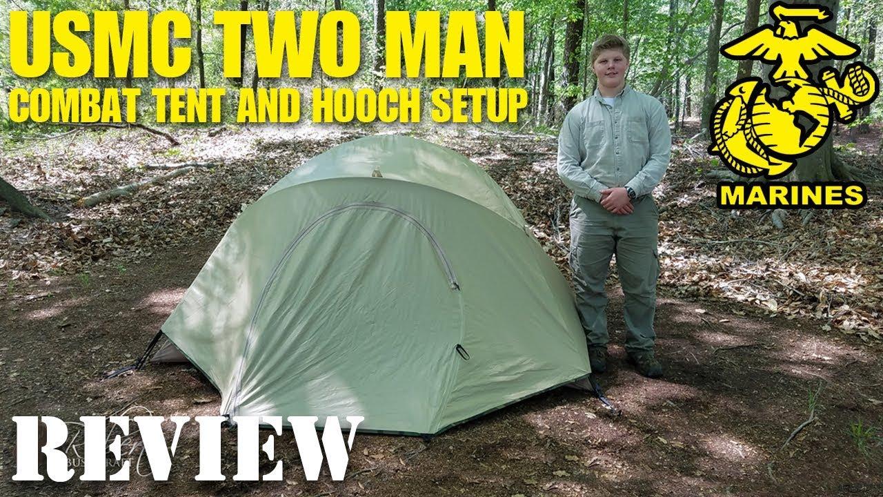 USMC 2 Man Combat Tent and Hooch Setup Review & USMC 2 Man Combat Tent and Hooch Setup Review - YouTube