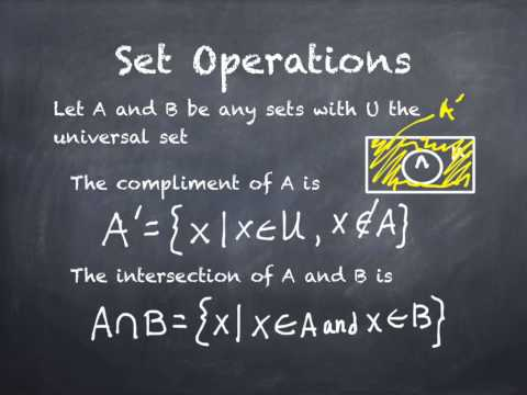 2.3 Set Operations and Cartesian Products B