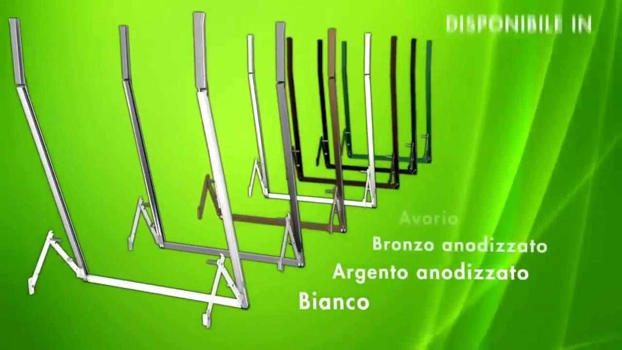 Telaio a sporgere per tapparelle in alluminio modello for Tapparelle per cabina