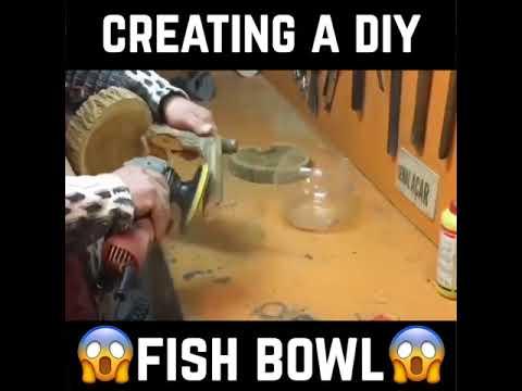 Amazing DIY Wooden Fish Bowl - DIY AQUARIUM FISH BOWL