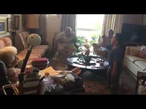 Netanel Entertain Mrs. Ruth Dayan.