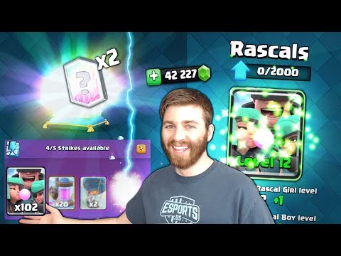 GEMMING NEW RASCAL CARD & RARE DOUBLE CHEST LEGENDARIES! | Clash Royale | BEST RASCAL DECK!