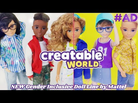 Unbox Daily: ALL NEW Creatable World Fully Customizable Gender Inclusive Dolls