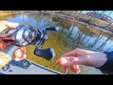 Catching First Fish EVER In Ultra Clear River || Winter Fishing