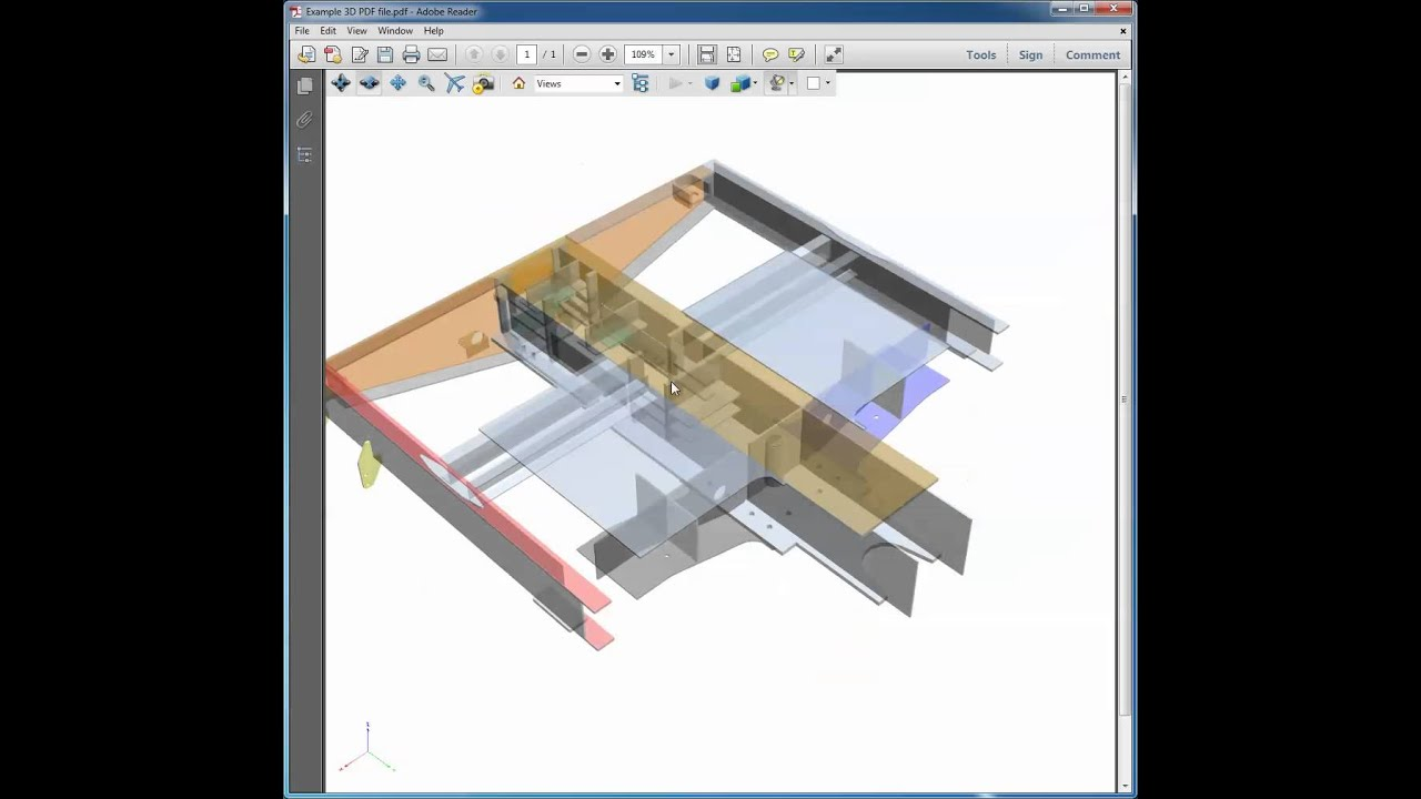 Working with 3D PDF files