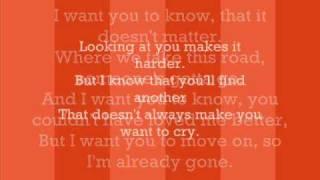 Already Gone - Kelly Clarkson - Lyrics + Full Song [HQ]