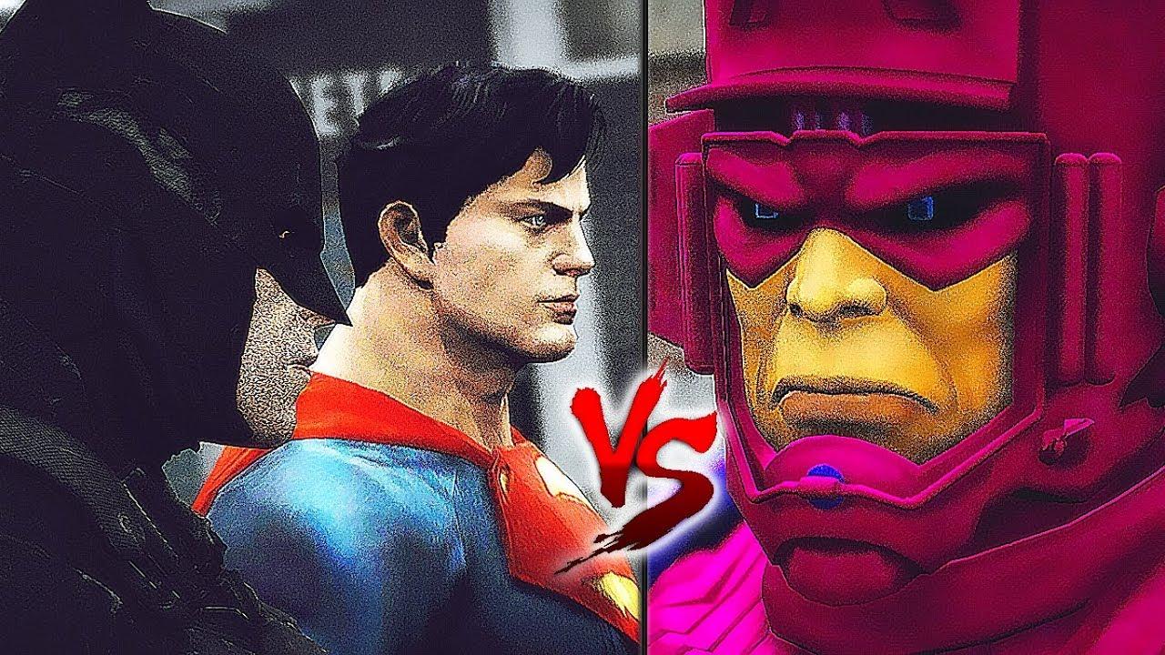 GALACTUS VS SUPERMAN & BATMAN - EPIC BATTLE - YouTube