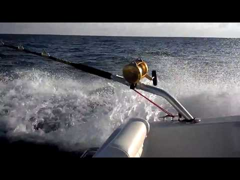 High Speed Wahoo Trolling on choppy seas
