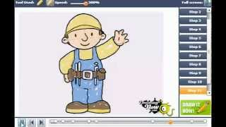How to draw Bob the Builder