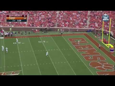 Clemson scores a TD after South Carolina State tosses ball to ref and didn't take a knee fumble..