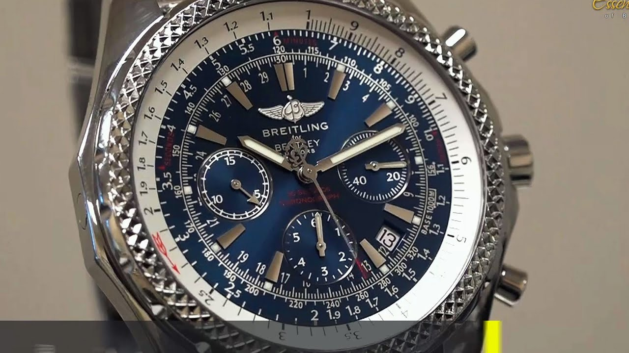 large automatic magnificent pre breitling chronograph owned sales gt timepieces bentley
