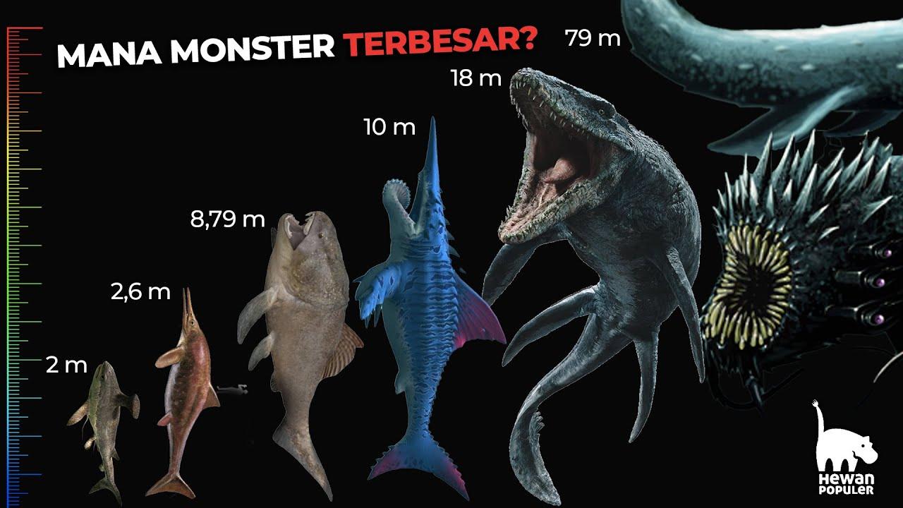 Download Perbandingan Ukuran Monster Raksasa Penguasa Lautan, Ada yang Lebih Besar dari Megalodon!