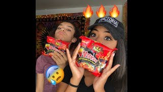 EXTREME SPICY NOODLE CHALLENGE X2 ( I CRIED )