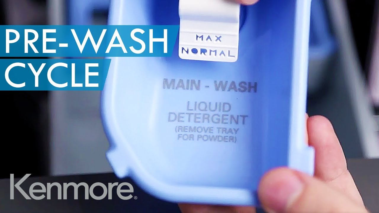 Kenmore Front Load Washer Dispenser: How to Use Pre-Wash Cycle