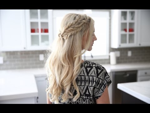 Half Up Side Braid | DIY | Cute Girls Hairstyles