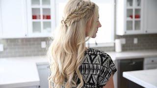 Half Up Side Braid   DIY   Cute Girls Hairstyles