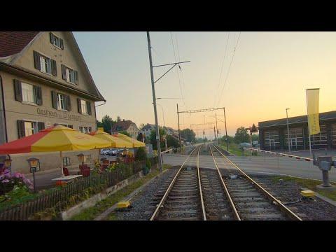 ★ Cab ride Wil - Weinfelden - Romanshorn, Mittelthurgaubahn Switzerland [08.2019]