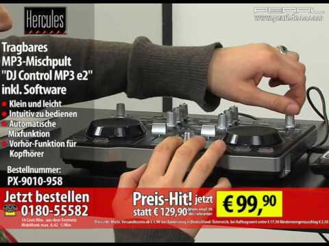 """hercules-tragbares-mp3-mischpult-""""dj-control-mp3-e2""""-inkl.-software"""