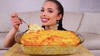 cheesy mac and cheese mukbang