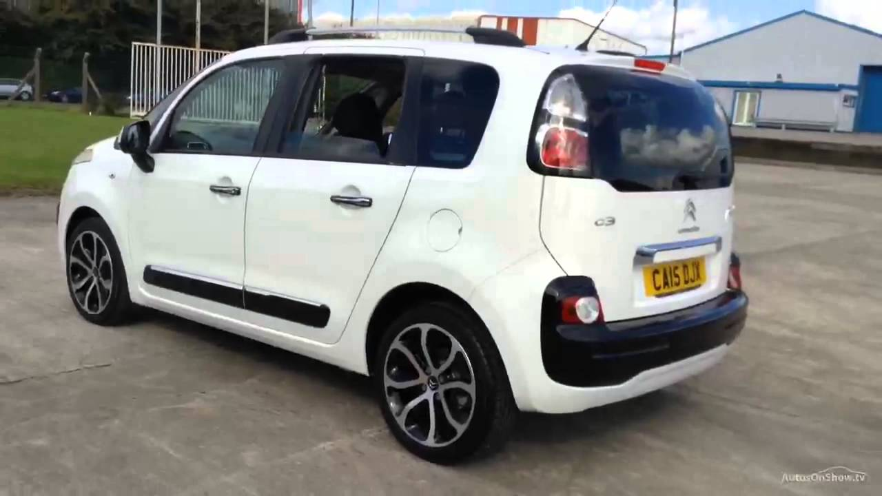 citroen c3 picasso exclusive hdi white 2015 youtube. Black Bedroom Furniture Sets. Home Design Ideas