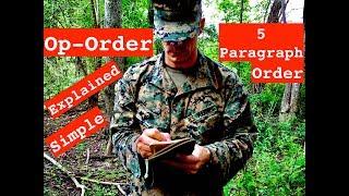 OPORD (OSMEAC) - 5 Paragraph Order