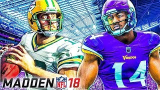 Madden NFL 18 Gameplay - First Impressions (Vikings vs Packers) 2017 Video