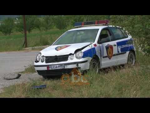 Korce, perplaset makina e policise | ABC News Albania