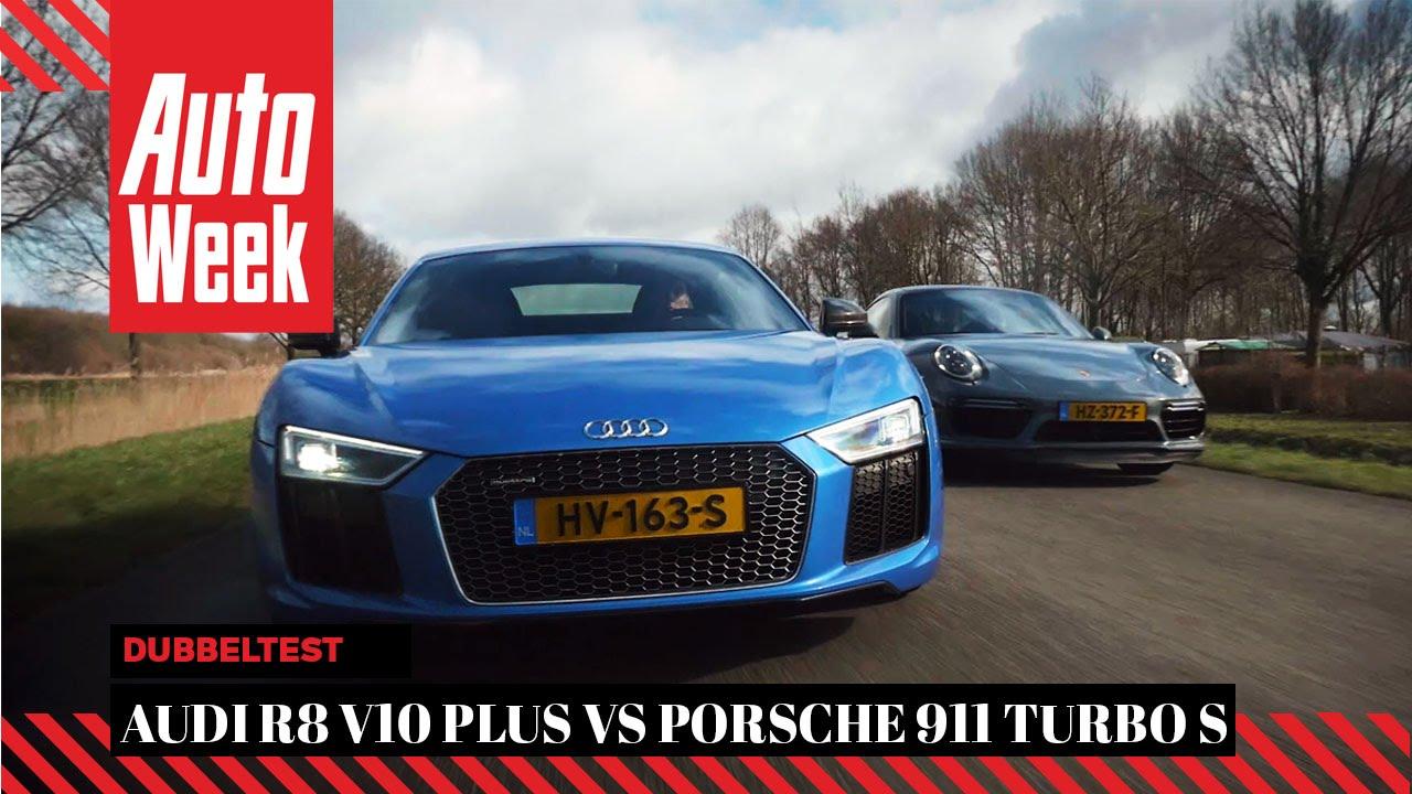 Audi R8 V10 Plus Vs Porsche 911 Turbo S English Subtitled Autoweek Review