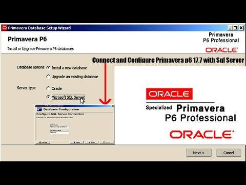 Connect and Configure Primavera p6 17.7 with Sql Server 2014 on Win 7 Part-6