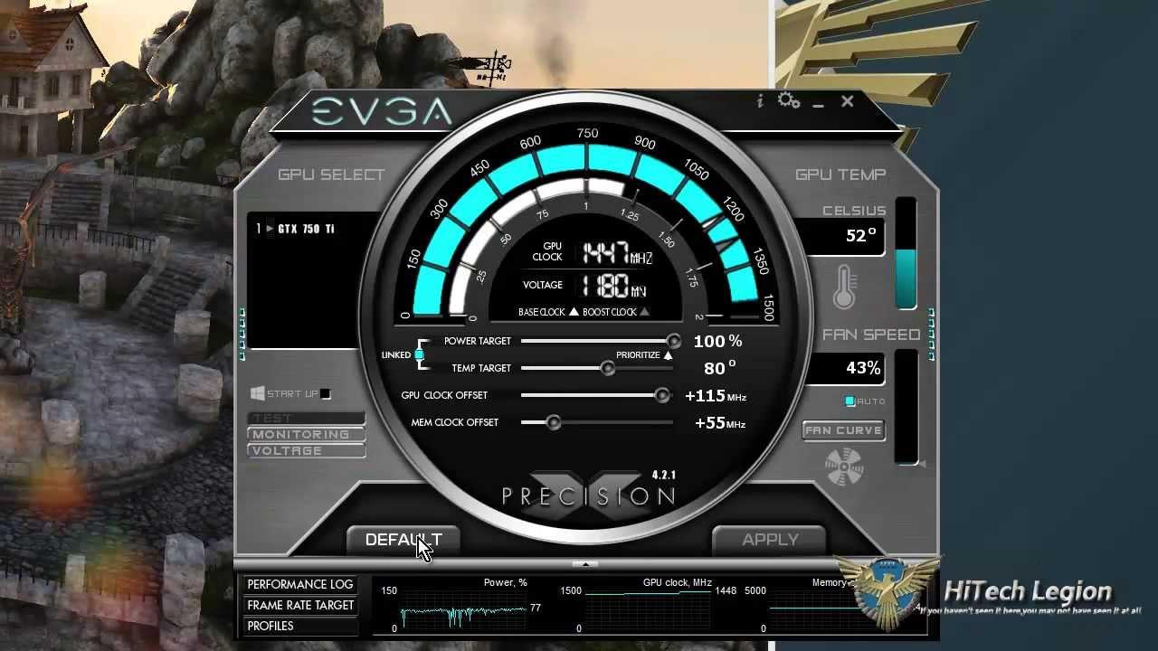 EVGA GeForce GTX 750Ti FTW overclocking using PrecisionX