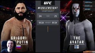 """Встретил ГГ из фильма """"Аватар"""" + открытие паков c Хабибом Нурмагомедовым EA Sports UFC 2"""